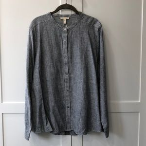 Eileen Fisher striped chambray shirt